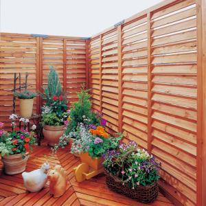 ルーバーラティス フェンス ガーデンフェンス 60 ウッドフェンス 庭 アイリスオーヤマ(代引不可)|irisplaza|02