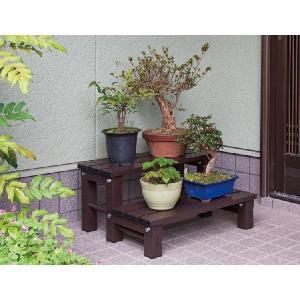 スノコ 2段 アルミ製 庭 アイリスオーヤマ 幅約60cm