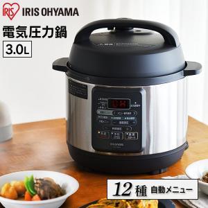 鍋 電気圧力鍋 3L 圧力鍋 電気 アイリスオーヤマ初心者 使いやすい 時短 レシピ 12メニュー ...