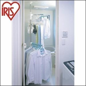 突っ張り型の物干しで、物干し場所の確保に困難な家庭の悩みを解決。 浴室等でも安心して使えるステンレス...