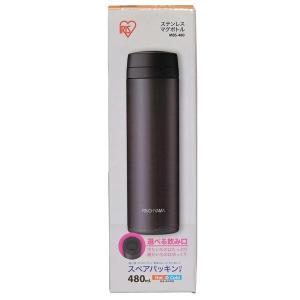 (受賞セール)水筒 おしゃれ 大人 子供 ステンレス ステンレスマグボトル スクリュー 0.48L MBS-480 480 アイリスオーヤマ  スポーツ レジャー(在庫処分特価)|irisplaza|06