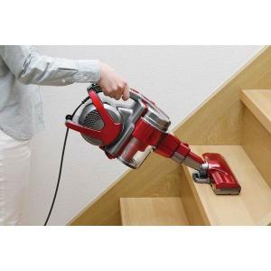 掃除機 ヘッド サイクロン ハンディ パワー スティッククリーナー スティック掃除機 IC-SM1-R アイリスオーヤマ 強力 吸引|irisplaza|04