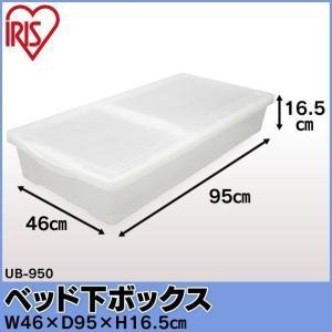 ベッド下ボックス UB-950 ナチュラル アイリスオーヤマ 衣類収納ケース 衣装ケース 収納ボックス プラスチック フタ付き(あすつく)|irisplaza