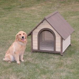 犬小屋 屋外  アイリスオーヤマ 室外  ログハウス 中型犬 大型犬 木製 ログ犬舎 おしゃれな犬 ウッディ犬舎 WDK-900