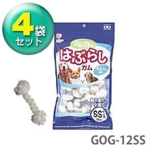 (4袋セット)はぶらしガム SSサイズ 12本入 GOG-12SS(アイリスオーヤマ)