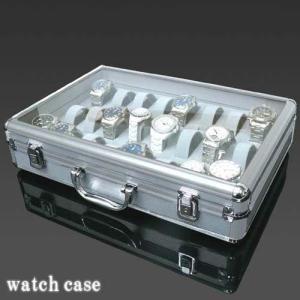 ジュラルミン 時計収納ケース 24本収納 / コレクション インテリア 時計 収納 ケース 魅せる ウォッチケース BOX ディスプレイ 【着後レビューで送料無料】|iristopmart123