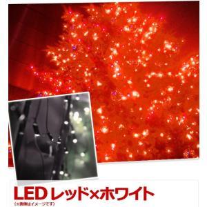 イルミネーション LED 300球 レッド×ホワイト ストレートライト コントローラー 付き クリスマス 防滴 LEDイルミライト 着後レビューで送料無料 iristopmart123 02