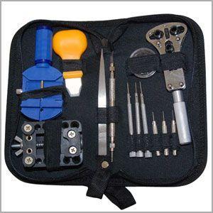 時計修理工具13点セット 専用ケース 付き / バネ棒外し 裏蓋はずし 電池交換 ウォッチツール|iristopmart123