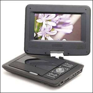 ポータブルDVDプレーヤー 車載 本体 7インチ ポータブル DVDプレーヤー AC DC 充電 バッテリー内蔵 3電源 ZM-007|iristopmart123
