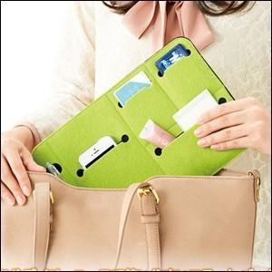 バッグインバッグ スリム トラベルポーチ インナーバッグ 収納 バッグ 旅行用 おでかけ ポーチ 整理整頓 便利 メール便送料無料|iristopmart123