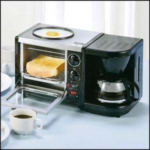 オーブントースター トースター コーヒーメーカー 焼きプレート 3WAY トースト コーヒー 目玉焼き モーニングトリオ MT-3 iristopmart123