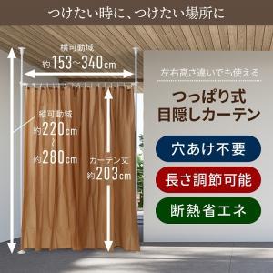 つっぱり式 目隠しカーテン 間仕切り パーテーション カーテンレール 目隠し 仕切り インテリア 模様替え 部屋の仕切り|iristopmart123|03