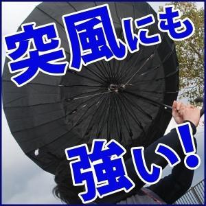 24本骨傘 65cm 高強度 グラスファイバー フレーム 雨...