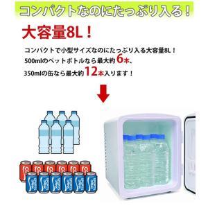 ポータブル 保冷温庫 8L AC DC 2電源式 小型 冷温庫 保冷 保温 部屋用 温冷庫 冷蔵庫 車載 キャンプ 8リットル ベルソス VS-407|iristopmart123|05