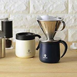 マグカップ おしゃれ ステンレス 真空二重構造 保温 保冷 蓋付き 取手付き 300ml ステンレスマグ ココカフェ|iristopmart123