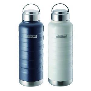 水筒 おしゃれ 1000ml ステンレス 真空二重構造 マグボトル 保温 保冷 直飲み ステンレスボトル タンブラー 1リットル マインドフリー|iristopmart123