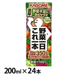 野菜ジュース カゴメ 送料無料 野菜一日これ一本 200ml 3419 カゴメ 【24本】|irisvga-y