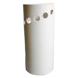 信楽焼 傘立て ホワイトスパイラル傘立 陶器 和風|irodoriya