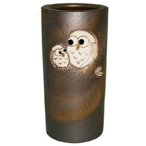 信楽焼 傘立て ふくろう傘立(金彩) 陶器 和風|irodoriya