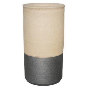 信楽焼 傘立て ツートン傘立(ベージュ) 陶器 和風|irodoriya