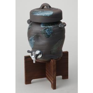 青刷毛目サーバー (コルク栓付) 陶器・信楽焼 焼酎サーバー|irodoriya