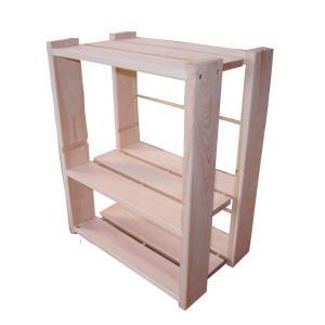 ひのき家具 収納ラック ベッドサイド棚 国産 無塗装 熊野の良質ひのき家具(無垢材)使用(檜) irodoriya