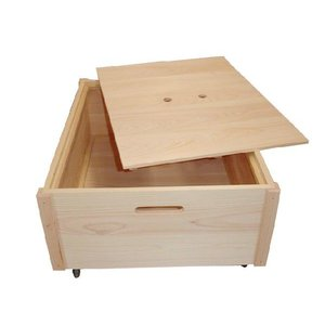 すのこベッド下収納ケース ひのきベッド下収納BOX 国産 無塗装 熊野の良質ひのき家具 熊野古道 irodoriya