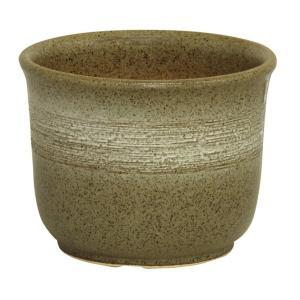 白ぼかし花鉢 6号 信楽焼 植木鉢 ガーデニング 陶器鉢|irodoriya