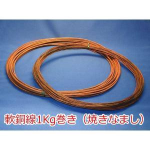 【盆栽道具】盆栽軟銅線(焼きなまし)1Kg巻き(お手入れ・針金かけ用)