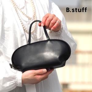 ビースタッフ ハンドバッグ S 黒 本革 B.stuff レディース 1884S|irohamise
