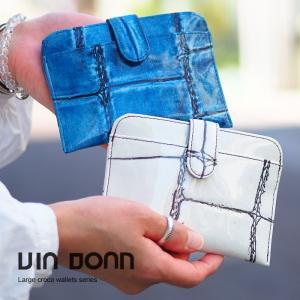 ヴィアドアン ラージクロコ 財布 レディース 二つ折り VIA DOAN 968|irohamise