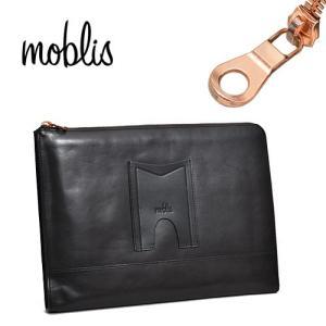 モブリス moblis クラッチバッグ ブラック メンズ MO-3-BLK ブランド 本革 革|irohamise