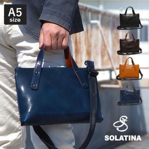 ソラチナ SOLATINA 2way ミニトートバッグ S バケッタレザー メンズ レディース A5 ミニ ブリーフケース 本革 レザー ブランド 日本製 SJP-00206|irohamise