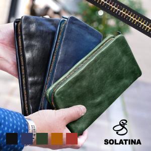 ソラチナ 長財布 SOLATINA 財布 本革 ラウンドファスナー メンズ レディース 小銭入れ SW-60050 ブランド|irohamise