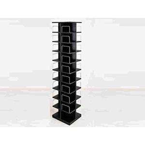 大容量回転式マルチタワーラックCD・DVD収納 ブラック(LCI-144BK)|iron-peace