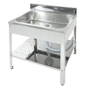 サンカ 錆びにくいステンレス製 シンクが深い 簡易流し台 屋外 アウトドア用 ガーデンキッチン 600 SK-0600 日本?|iron-peace
