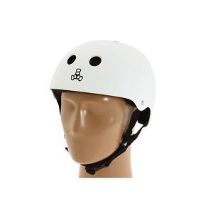 トリプルエイト ヘルメット triple eight [ T818S ] SWEATSAVER LINER HELMET スケート BMX (WHT-RUBBER, XL(58-61cm)) iron-peace