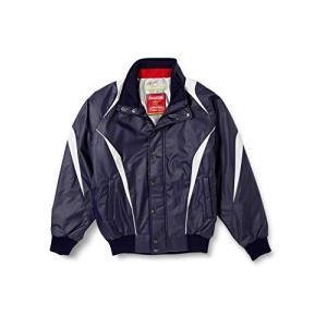 [エスエスケイ] ジャケット 蓄熱グラウンドコート フロントフルZIP+ボタン比翼付き(中綿) メンズ ネイビー×シル iron-peace