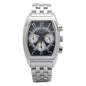 [エルジン] 腕時計 FK1403S-BL メンズ シルバー iron-peace