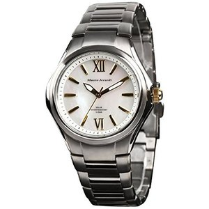 [マウロジェラルディ] 腕時計 ソーラー チタン 10気圧防水 MJ039-3 シルバー iron-peace