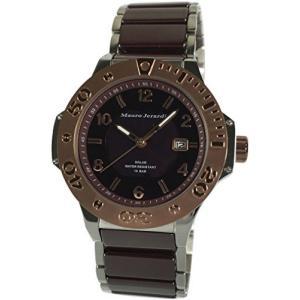 [マウロジェラルディ] 腕時計 ソーラー セラミック 10気圧防水 カレンダー MJ034-3 ブラウン iron-peace