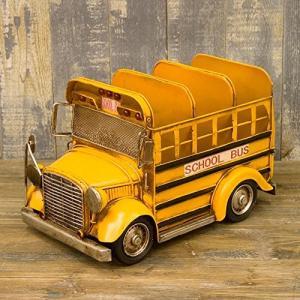 ブリキ製 ヴィンテージ アメリカン スクールバス CDホルダー|iron-peace
