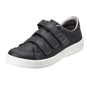 [ムーンスター] メンズ/レディース リハビリ 介護靴 Vステップ07 (両足同サイズ) ブラック 24 cm 3E iron-peace