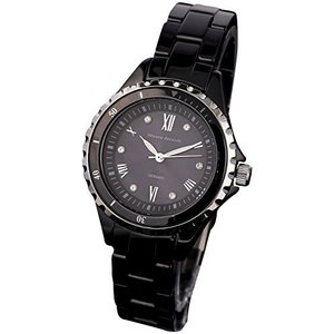[マウロジェラルディ] 腕時計 ソーラー 3針 セラミック MJ052-2 レディース ブラック iron-peace