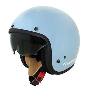 ダムトラックス(DAMMTRAX) バイクヘルメット ジェット AIR MATERIAL (エアー マテリアル) エアーブルー レディースサ?|iron-peace