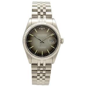 [テクノス] 腕時計 3針 デイト T9655SE メンズ シルバー iron-peace