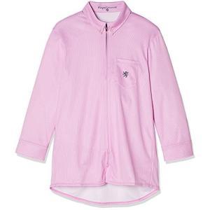 [カペルミュール] クロップドシャツジャージ ピンストライプ ピンク kpls089 日本 M (日本サイズM相当) iron-peace