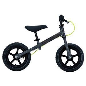 キャプテンスタッグ(CAPTAIN STAG) キッズ用ランニングバイク ペダルなし自転車 ブレーキ付 トレーニングバイク 18 iron-peace