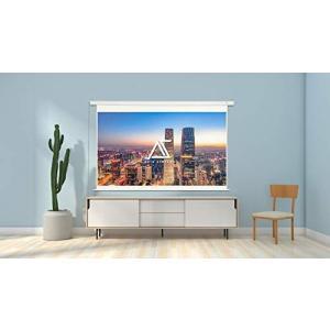 AKIA電動スクリーンエッジフリータイプ 100インチ ホワイトケース プロジェクタースクリーン 4K 高解像度 ホーム|iron-peace