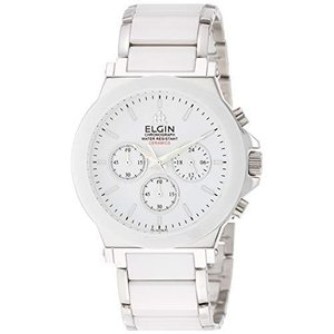 [エルジン] 腕時計 セラミッククロノグラフ FK1417C-W メンズ シルバー iron-peace